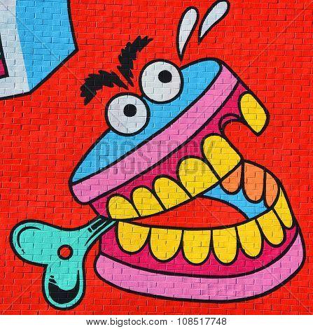 Street art denture