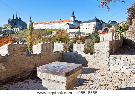 cathedral of St. Barbara, Silver castle Hradek and Jesuit college, Central Bohemia, Kutna Hora, Czec