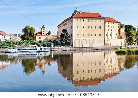 Castle From 13Th Cent., Elbe River Embankment, Spa Town Podebrady, Central Bohemia, Czech Republic