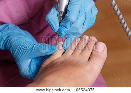 Chiropody Spa Salon. Shaping Nails And Cuticles.