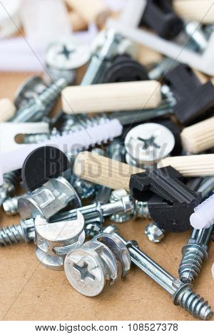 Various Screw Bolt And Cleat.