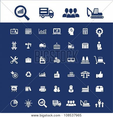 online industrial business icons, signs vector concept set for infographics, mobile, website, application