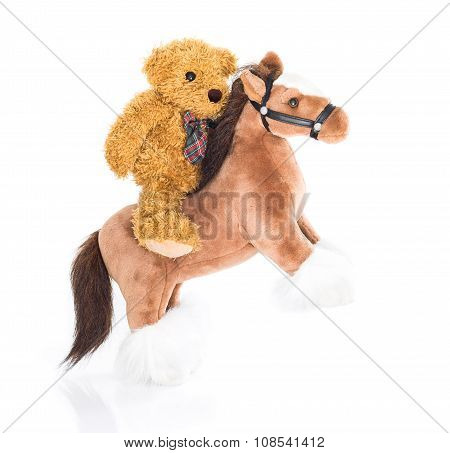 Teddy Bear Riding A Horse