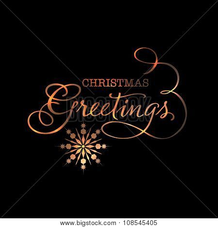 Elegant greeting card design with creative snowflakes for Merry Christmas celebration.
