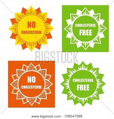 Four Cholesterol Free Labels