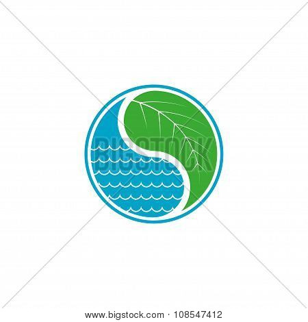 Leaf And Water Drop Eco Concept