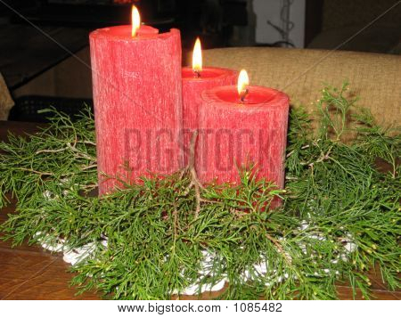 Red Christmas Candles 2