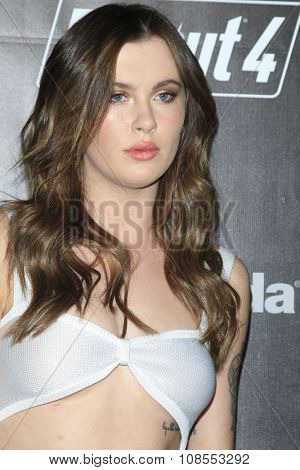 LOS ANGELES - NOV 05:  Ireland Baldwin at the Fallout 4 video game launch  at the downtown on November 05, 2015 in Los Angeles, CA
