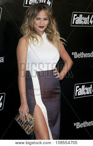 LOS ANGELES - NOV 05:  Chrissy Teigen at the Fallout 4 video game launch  at the downtown on November 05, 2015 in Los Angeles, CA