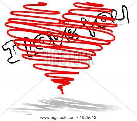 I Love You - Vector Illustration