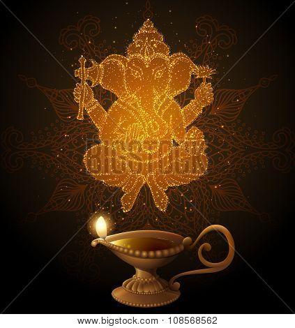 Diwali Background With Ganesha