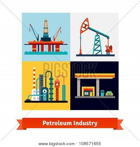 Crude oil extraction, refining, selling business