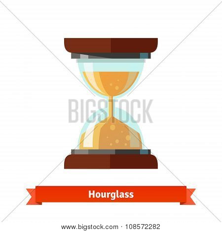 Hourglass icon. Sand glass clock