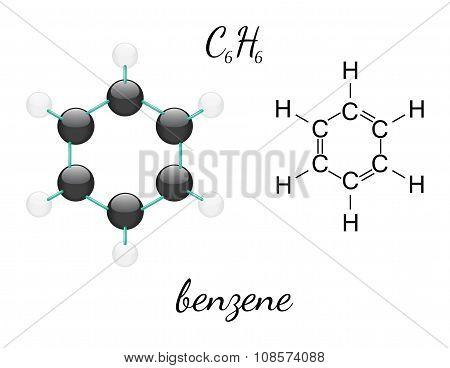 C6H6 benzene molecule