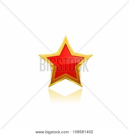red vector star