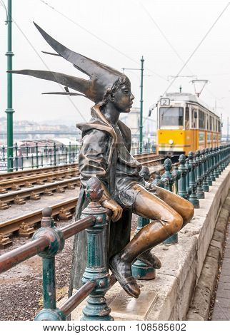 Budapest, Hungary - October 12: A Statue Of The Little Princess Jester In Budapest, One Of The Symbo