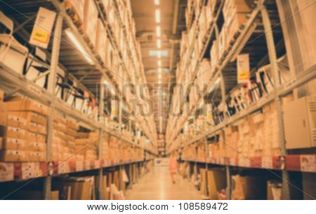 Blur Image Of A Warehouse Background
