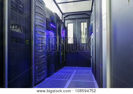 sealed room mainframes in big data center
