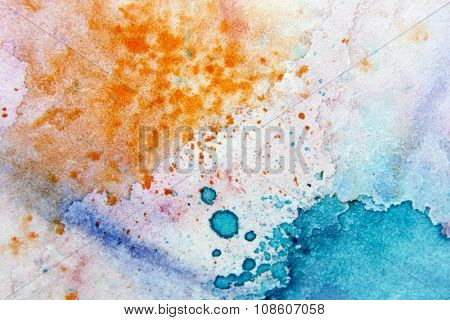 Macro Multi-Colour Watercolor 10