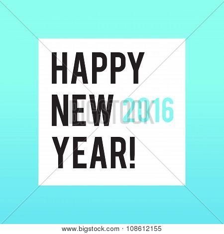 Neon bright square New Year banner