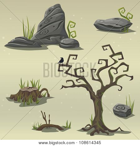 Set Elements For Computer Game Location Swamp