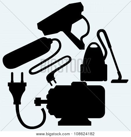 Electric motor, power surge, vacuum cleaner and outdoor surveillance camera