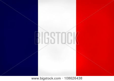 France Flag Dirty