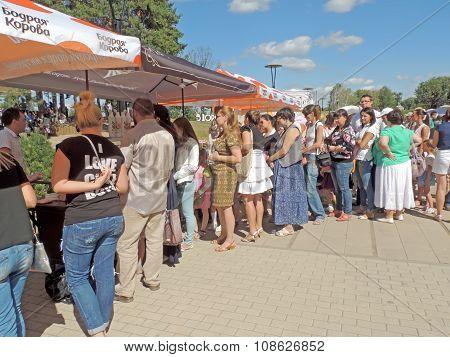 Line For Ice Cream