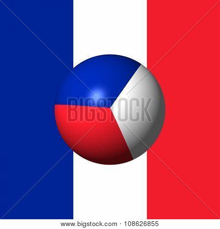 France Flag Sphare