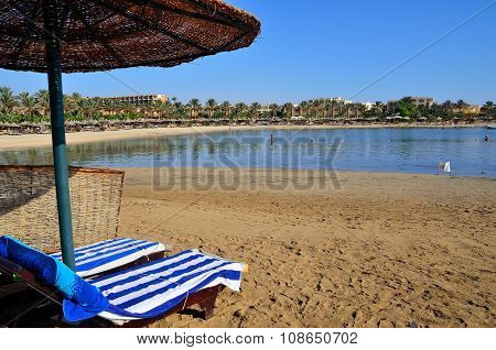 sandy beach in Marsa Alam