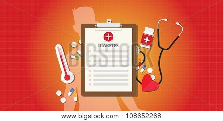 diabetes disease concept