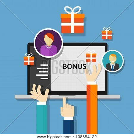 bonus employee reward  benefits promotion offer
