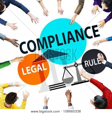 Compliance Legal Rule Conformity Concept poster