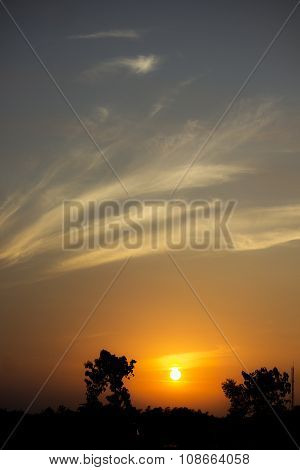 this photo take at dawn time near lawu mountain at java, indonesia poster