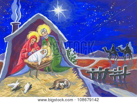 Christmas Star And Baby