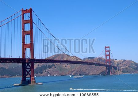 Golden Gate Bridge with Marin County