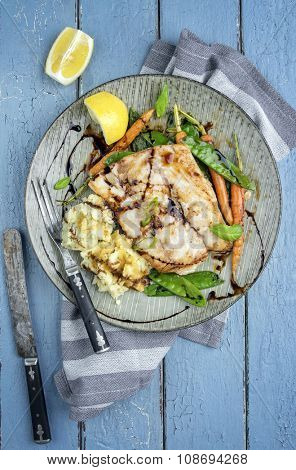Coalfish Filet Teriyaki with Vegetable