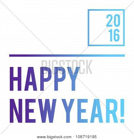 White typography New Year banner with neon gradient on letters