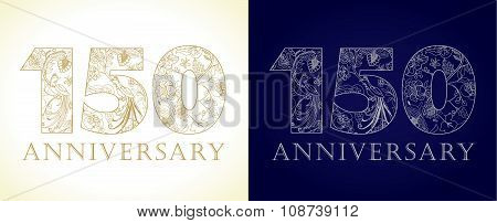 150 anniversary vintage logo.
