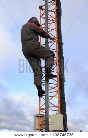 violation of safety at high-altitude works