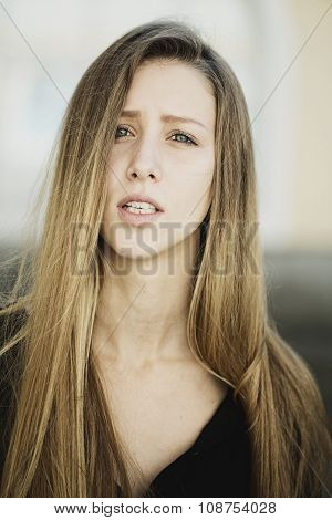 Emotional Young Woman