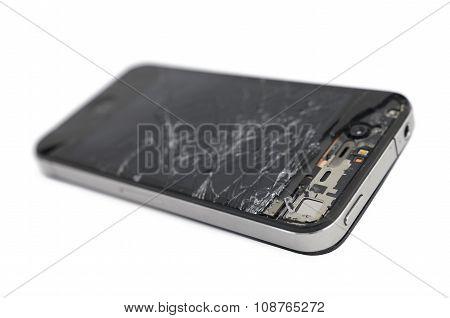 Broken Mobile Smartphone