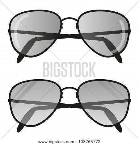 Aviator Sun glasses . Pilot Glasses Flat Design Vector Illustration poster