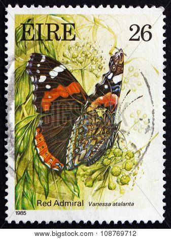 Postage Stamp Ireland 1985 Red Admiral, Butterfly