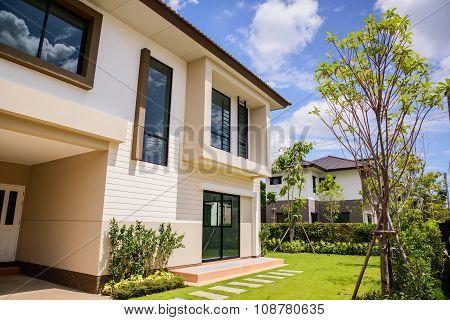New home,  Housing estate in Thailand .