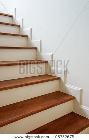 Wooden Stairs, Interior design: Classic wooden stairs.