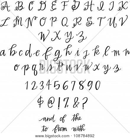 Hand Lettered Alphabet Set