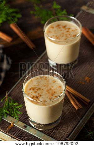 Cold Refreshing Eggnog Drink for the Holidays poster
