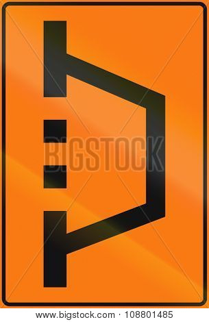 Norwegian Road Sign - Temporary Detour Sign