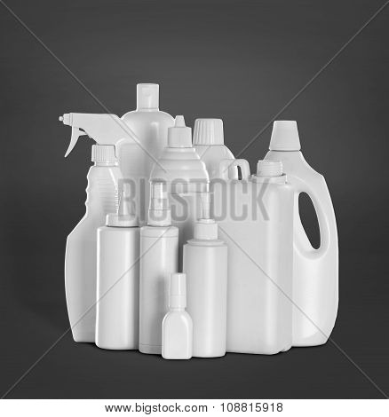 Detergent Bottles And Chemical Cleaning Supplies